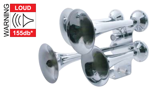 Chrome Econ. 4 Trumpet Train Horn
