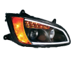 2008+ Kenworth T660 Projector Headlight - Passenger Side - Black - Out